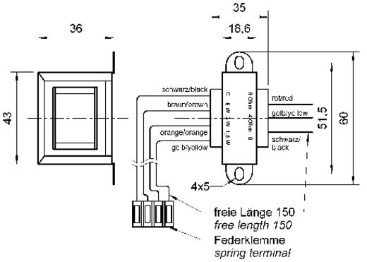 Visaton TR 6.8 ELA 100 V Übertrager