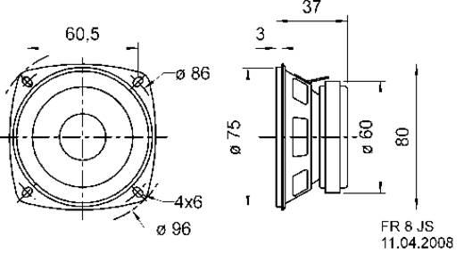 Visaton FR 8 JS 3.3 Zoll 8 cm Breitband Lautsprecher-Chassis 10 W 8 Ω