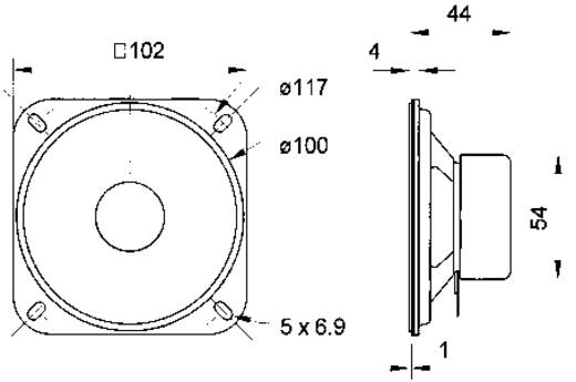 Visaton R 10 SC 8 Ohm 4 Zoll 10.16 cm Breitband Lautsprecher-Chassis 20 W 8 Ω