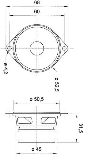 2 Zoll 5 cm Breitband Lautsprecher-Chassis Visaton FRS 5 XTS 5 W 8 Ω