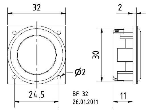 1.3 Zoll Miniaturlautsprecher Visaton BF 32 2 W 8 Ω