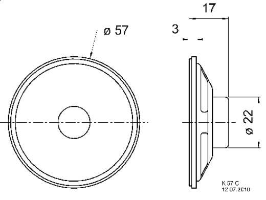 Visaton K 57 C Hochton-Kalotte 2 W 8 Ω