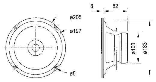 8 Zoll 20.32 cm Breitband Lautsprecher-Chassis Visaton BG 20 40 W 8 Ω
