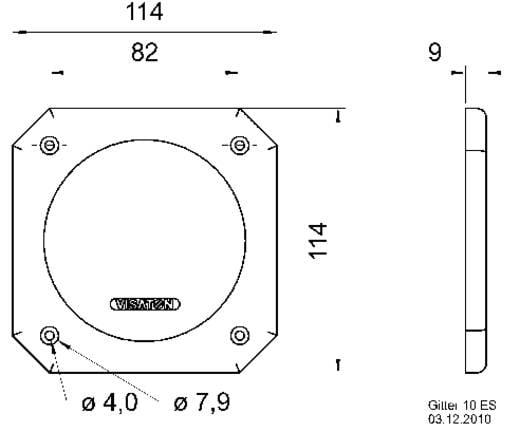 Visaton 10 ES Lautsprecher Schutzgitter