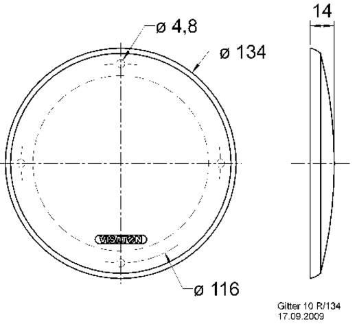 Visaton 10 R/134 Lautsprecher Schutzgitter