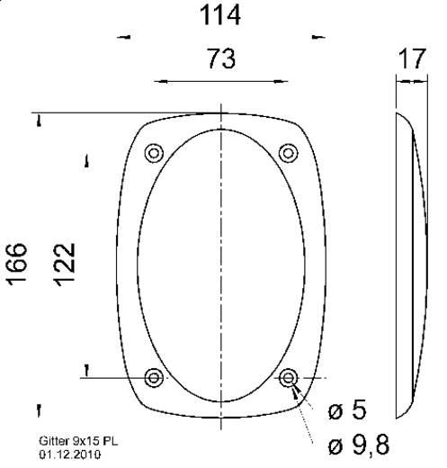 Visaton 9 x 15 PL Lautsprecher Gitter
