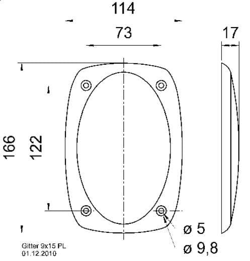 Visaton 9x15 PL Lautsprecher Schutzgitter