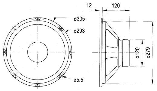 12 Zoll Lautsprecher-Chassis Visaton W300 120 W 8 Ω