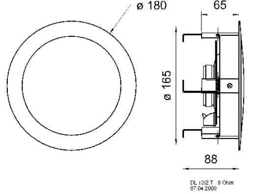 Visaton DL 13/2 T, 8 Ohm Lautsprecher