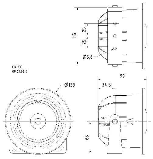 ELA-Druckkammerlautsprecher Visaton DK 133 15 W Weiß 1 St.