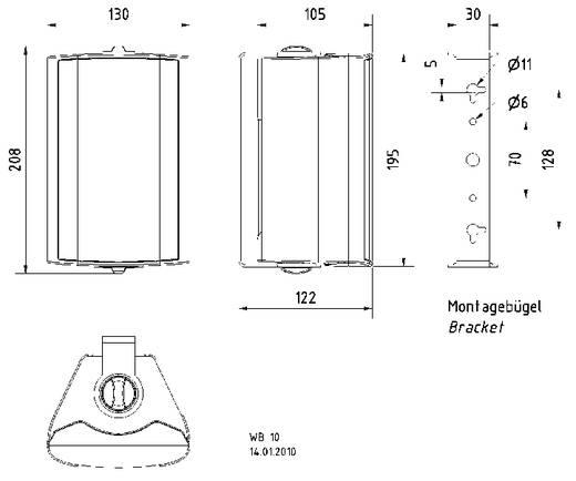 ELA-Lautsprecherbox Visaton WB 10 40 W Weiß 1 St.