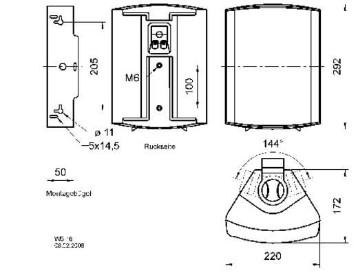 ELA-Lautsprecherbox Visaton WB 16 60 W Schwarz 1 St.