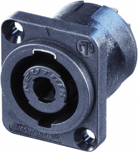 Lautsprecher-Steckverbinder Flanschbuchse, Kontakte gerade Polzahl: 4 Schwarz Neutrik NL4MP-UC-CON 1 St.