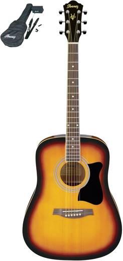 Westerngitarren-Set Ibanez V50NJP-VS 4/4 Vintage Sunburst inkl. Tasche