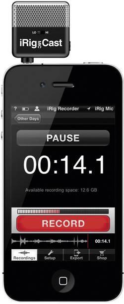 Mikrofon iRig Mic Cast pro iPhone