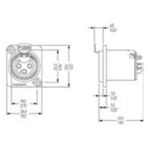 XLR-Einbaubuchse Amphenol Audio Connectors AC3FDZB