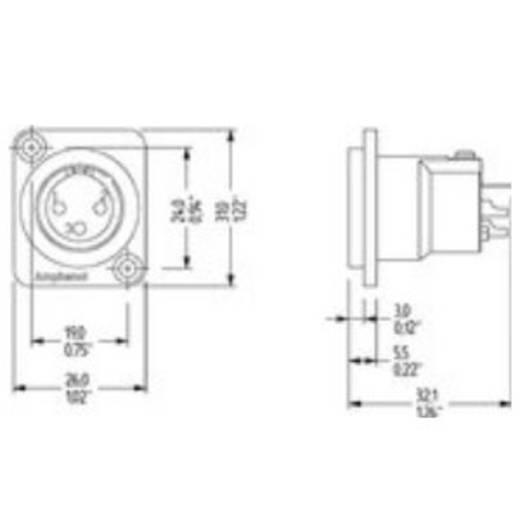 XLR-Einbaubuchse Amphenol Audio Connectors Amphenol