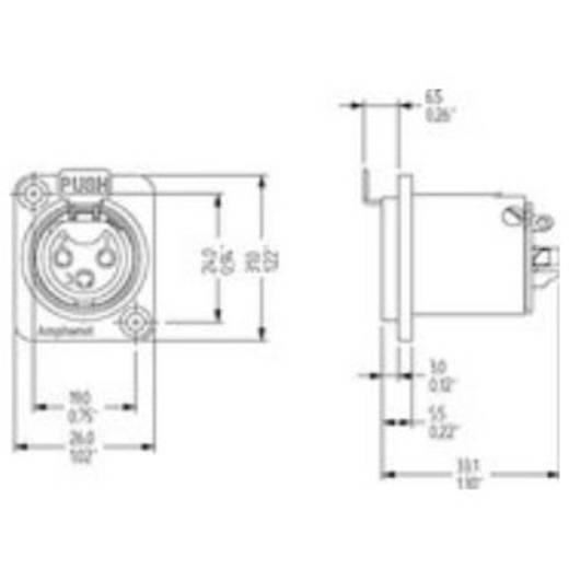 5-Pol XLR-Buchse Amphenol Audio Connectors AC5FDZ