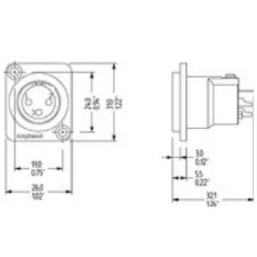 5-Pol XLR-Buchse Amphenol Audio Connectors AC5MDZ