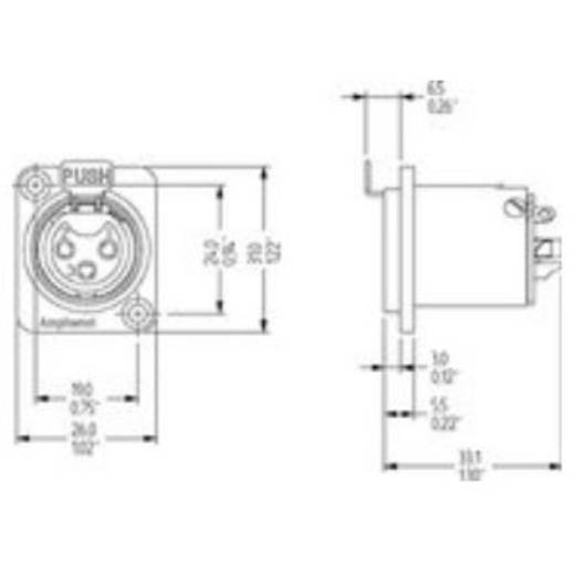 XLR-Einbaubuchse Amphenol Audio Connectors AC3FDZ