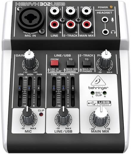Konsolen-Mischpult Behringer Xenyx 302USB Anzahl Kanäle:2 USB-Anschluss
