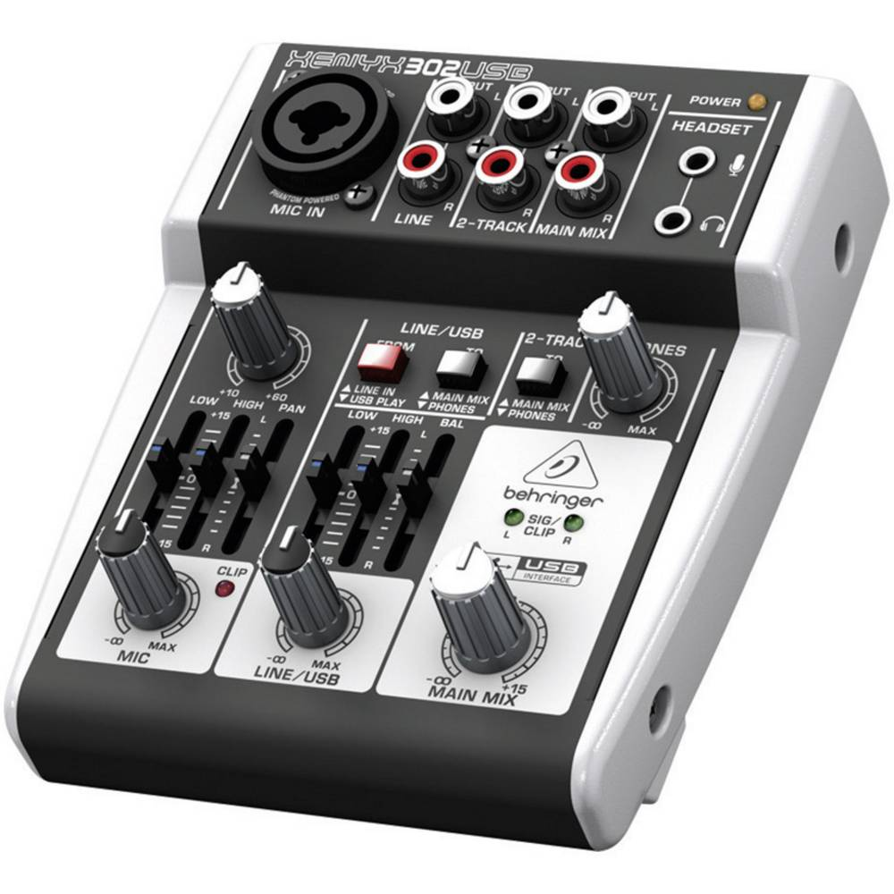 Table de mixage behringer 302usb sur le site internet conrad 312989 - Table de mixage behringer ...
