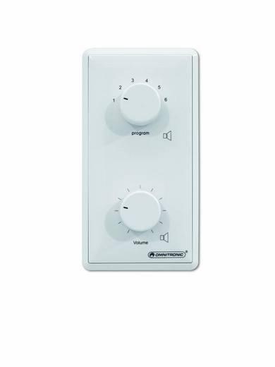 Omnitronic Aufputz, Unterputz ELA-Lautstärkeregler und -Programmwähler Weiß