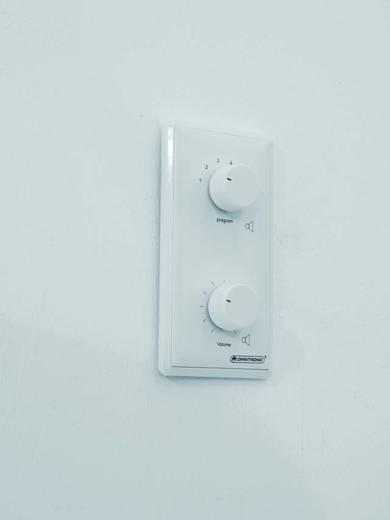 Omnitronic Einbau ELA-Lautstärkeregler und -Programmwähler Weiß