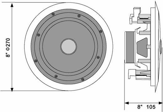 Einbaulautsprecher Omnitronic CST-8 40 W 100 V Weiß 1 St.