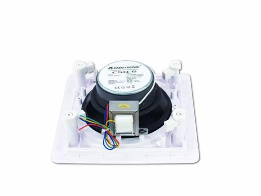 Einbaulautsprecher Omnitronic CSQ-5 30 W 100 V Weiß 1 St.