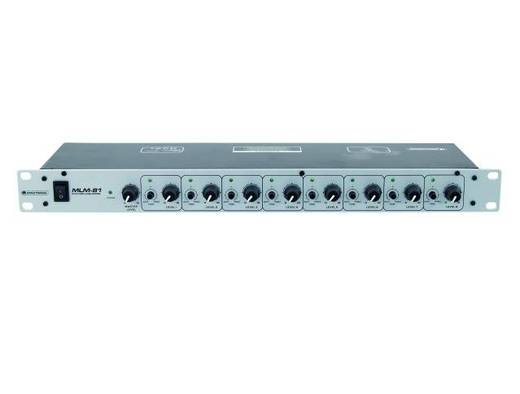 "8-Kanal 19"" Mikrofon Vorverstärker Omnitronic MLM-81"