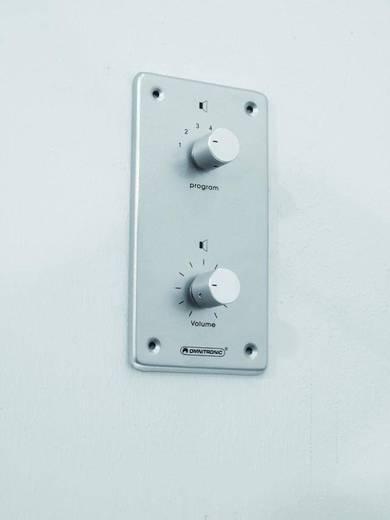 Omnitronic Einbau ELA-Lautstärkeregler und -Programmwähler Silber, Aluminium