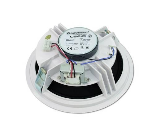 Einbaulautsprecher Omnitronic CSE-8 10 W 100 V Weiß 1 St.