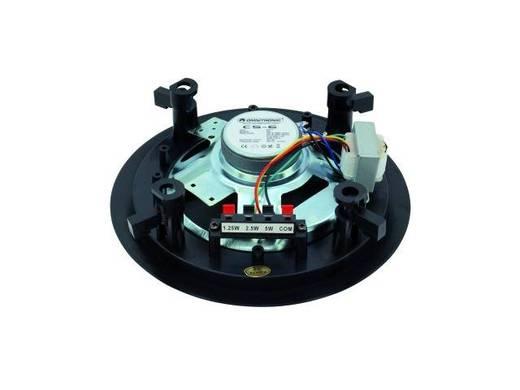 Einbaulautsprecher Omnitronic CS-6 5 W 100 V Schwarz 1 St.