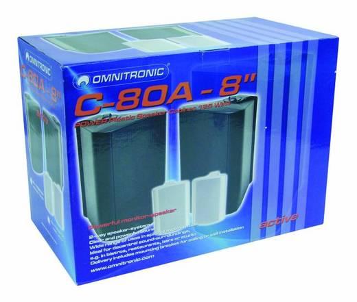 Aktiver Monitor-Lautsprecher 20 cm 8 Zoll Omnitronic C-80A 80 W 1 Paar
