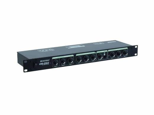 Omnitronic EM-260B 19 Zoll Mischpult Anzahl Kanäle:6