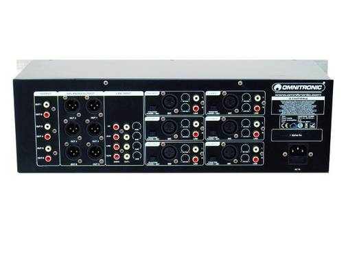 Omnitronic MZD-860 19 Zoll Mischpult Anzahl Kanäle:6