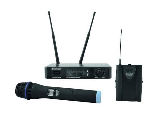 Hand Gesangs-Mikrofon Omnitronic HM-1000 MK2 Übertragungsart:Funk inkl. Klammer, inkl. Koffer