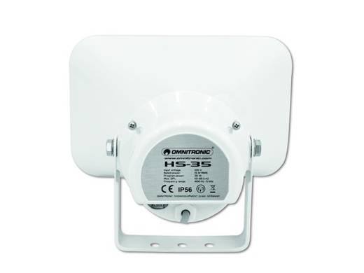 ELA-Druckkammerlautsprecher Omnitronic HS-35 15 W Weiß 1 St.