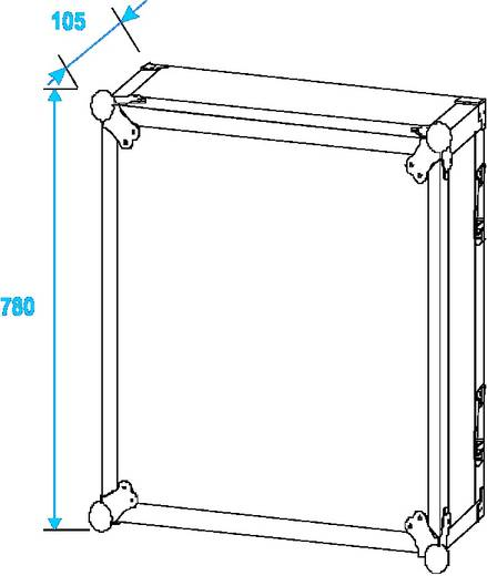 19 Zoll Rack 16 HE 30109798 Holz inkl. Griff