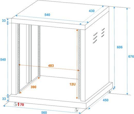 19 Zoll Rack 12 HE Omnitronic 30103170 Stahl inkl. Rollen