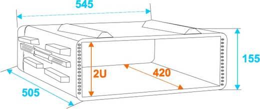19 Zoll Rack 2 HE KR-19 Kunststoff inkl. Griff