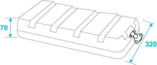 19 Zoll Rack 6 HE KR-19 Kunststoff inkl. Griff