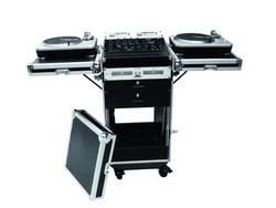 DJ Mixer Case 32000100, (d x š x v) 560 x 1220 x 650 mm, černá/stříbrná