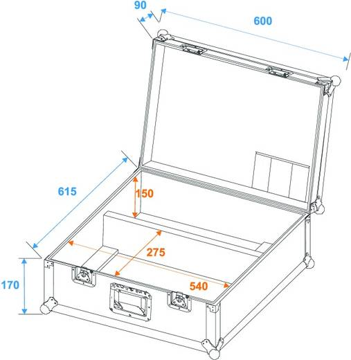 Case für 2x TS-150/TS-7/TS-255 (L x B x H) 610 x 680 x 310 mm