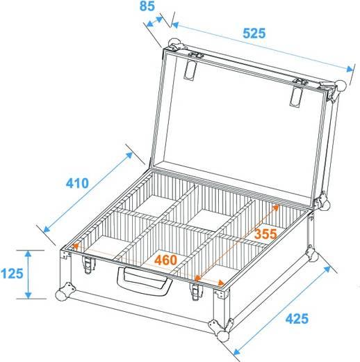 Universal-Koffer Trennwände schwarz (L x B x H) 205 x 525 x 425 mm