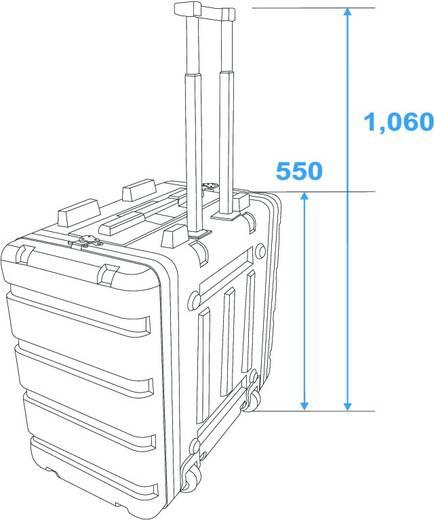 19 Zoll Rack 8 HE 30106060 Kunststoff inkl. Griff, inkl. Rollen