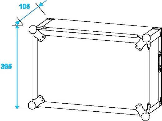 19 Zoll Rack 6 HE Shock-Proof Holz inkl. Griff