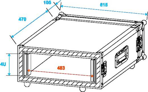 19 Zoll Rack 4 HE Shock-Proof Holz inkl. Griff