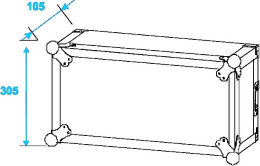 Shock-Proof 19 Zoll Rack 4 HE Holz inkl. Griff